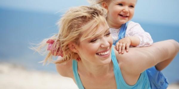 mamma e baby al mare